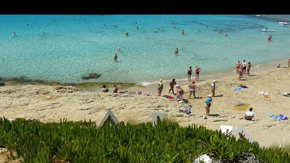 plażowicze korzystający ze słońca i morza