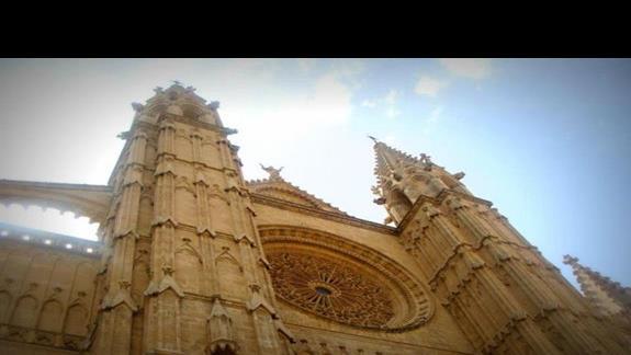 Katedra w stolicy wyspy- Palma de Mallorca.