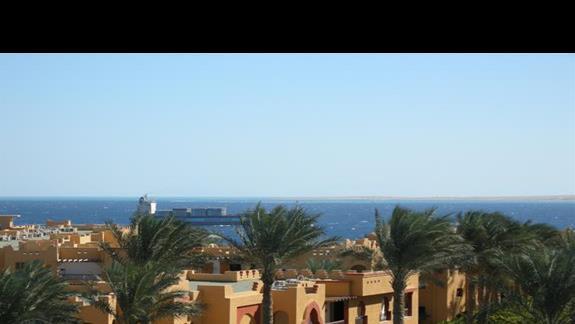 widok z balkonu na Morze Czerwone