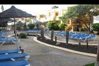 Hotel Allegro Isora - Leżaki wokół kaktusów na terenie hotelu.