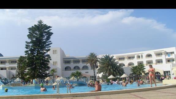 hotel, basen