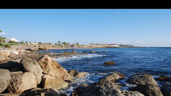 widok na morze z promenady