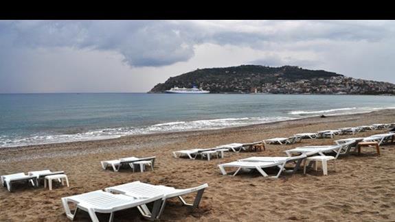 Plaża hotelu Eftalia Aytur