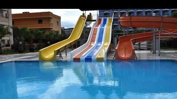 Zjeżdżalnie wodne w hotelu Eftalia Resort