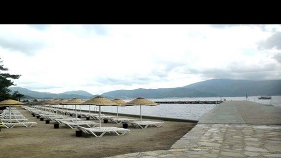 Prywatna plaża hotelu Marmaris Palace