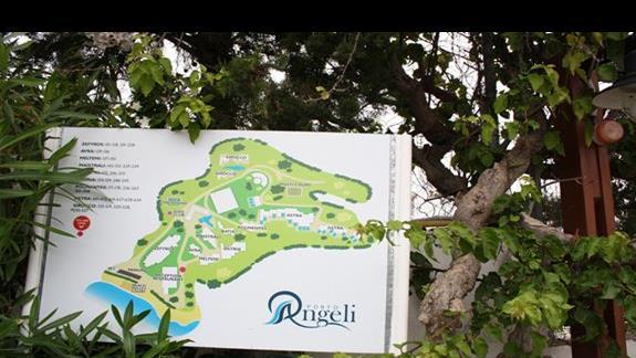 Plan hotelu Porto Angeli