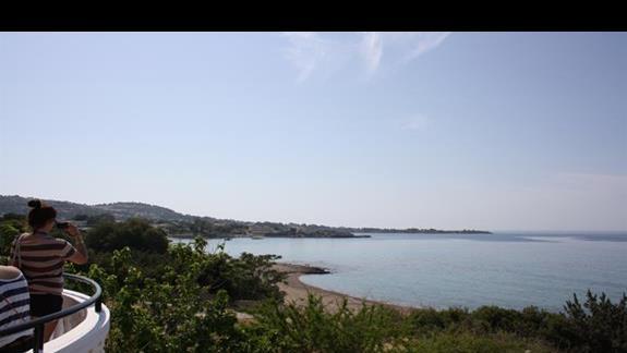 widok z Coralli Beach