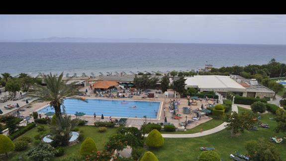 Widok z pokoju w budynku glównym w hotelu Bue Bay