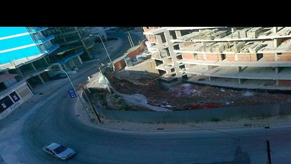 widok z hotelu od frontu z ostatniego piętra