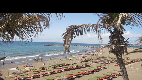 widok z basenu na plaze