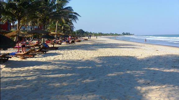 Plaża w hotelu Kombo Beach
