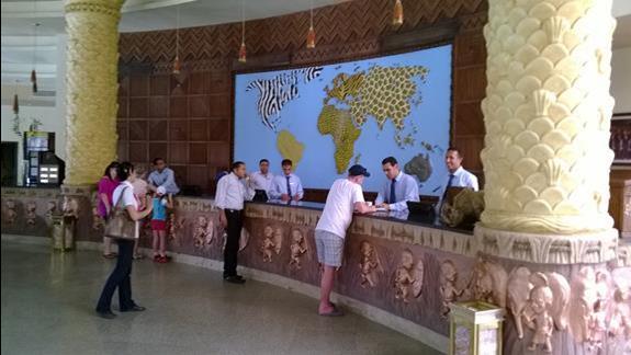 Recepcja hotelu Jungle Aqua Park