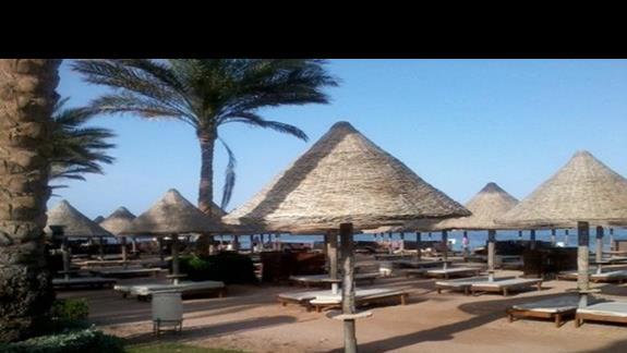 Plaża przy hotelu Grand Plaza