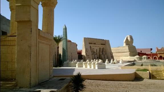 Mini muzeum egipskie w hotelu Alf Leila wa Leila - Fantasia 1001 Nights