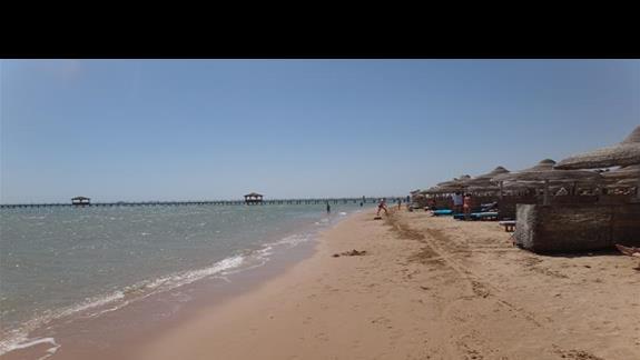 Plaza przy hotelu Amwaj Blue Beach Abu Soma Resort & SPA