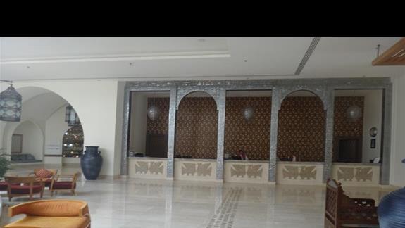 Recepcja hotelu Hilton Marsa Alam Nubian Resort
