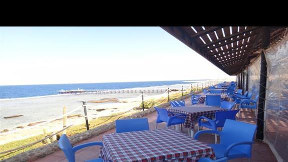 Bar przy plazy w hotelu Calimera Club Akassia Swiss Resort