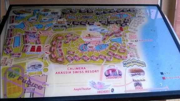 Mapa obrazujaca kompleks Calimera Club Akassia Swiss Resort z LTI Akassia Beach
