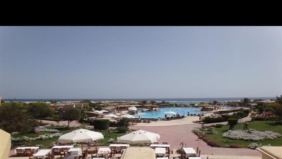 Widok z poziomu lobby na hotelu Three Corners Fayrouz Plaza Beach Resort