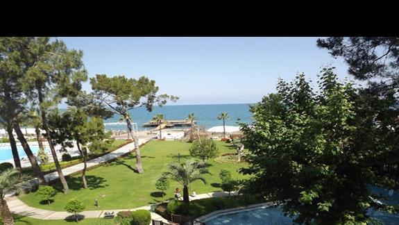 Widok na morze z hotelu Mirada del Mar