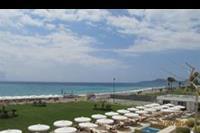 Hotel Mitsis Alila Resort & Spa - Widok na plaze z tarasu