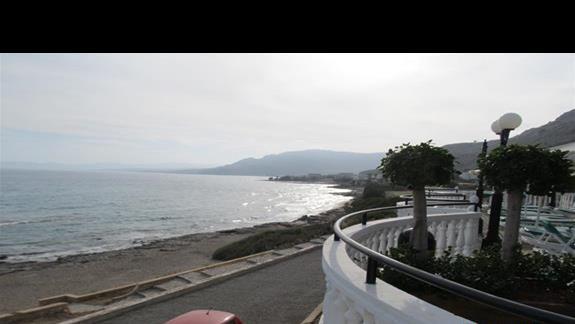 Plaza widok z tarasu restauracji