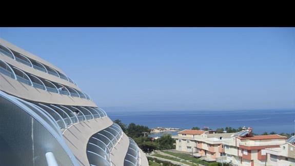 widok z balkonu hotelu Grand Blue Sky