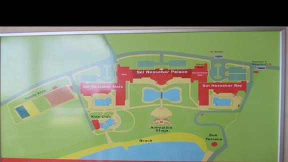 Sol Nessebar Palace plan kompleksu