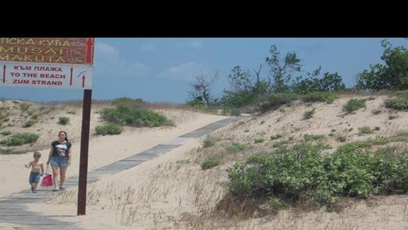Zefir Beach dojscie na plaze