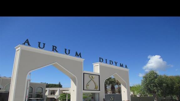 Aurum Spa & Beach Resort wejscie