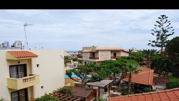 Widok z pokoju w hotelu Cactus Beach