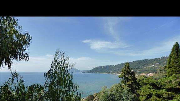 Widok z hotelu Aquis Agios Gordios