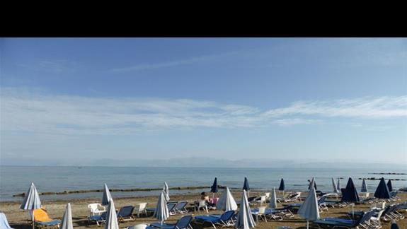 Plaża przy hotelu Angela Beach