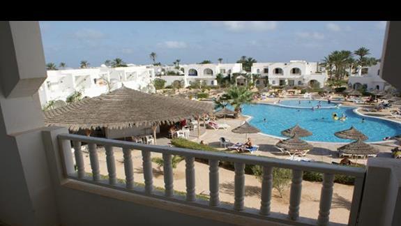 Widok z pokoju Hotelu Sun Club Djerba