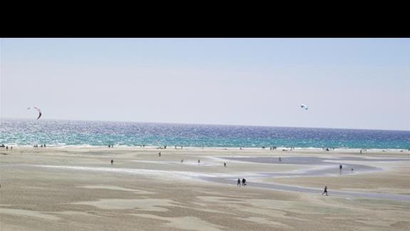 plaża Sotavento przy hotelu Melia Gorriones