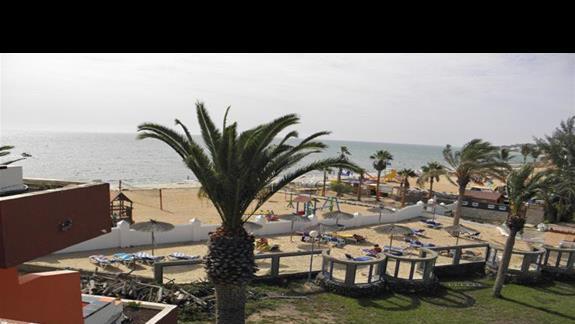 Widok na morze z pokoju typu studio w hotelu Fuerteventura Playa