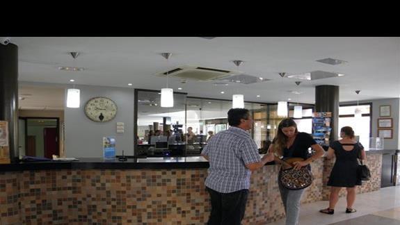 Recepcja hotelu Costa Caleta