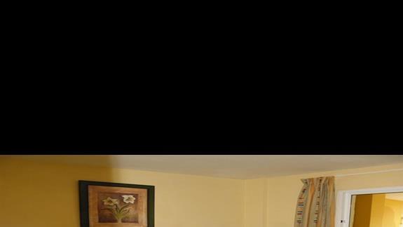 Sypialnia w apartamencie z 1 sypialnia w aparthotelu Caleta Garden