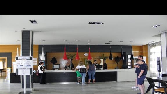 Recepcja hotelu Elba Carlota