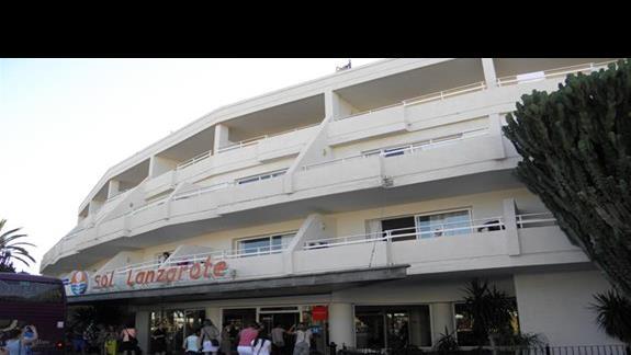 Hotel Sol Lanzarote od frontu