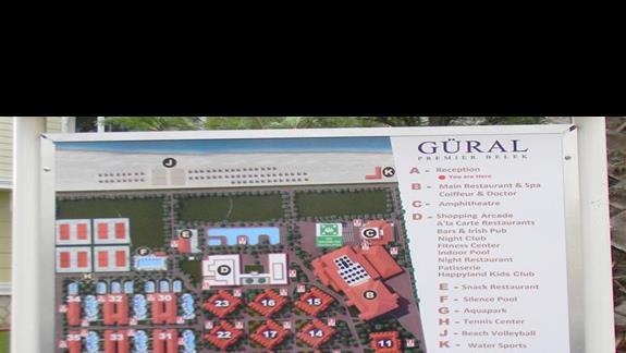 Plan całego hotelu Gural Premier