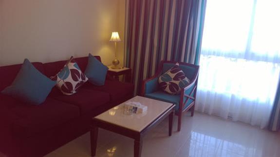 Pokój wypoczynkowy w apartamencie w hotelu Aurora Oriental Bay