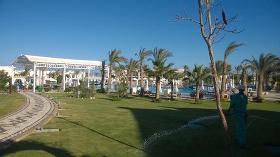 Ogród Hotelu Hilton Marsa Alam Nubian Resort