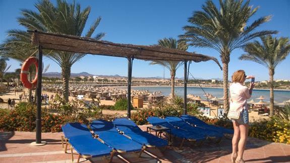 Plaża w hotelu Iberotel Lamaya