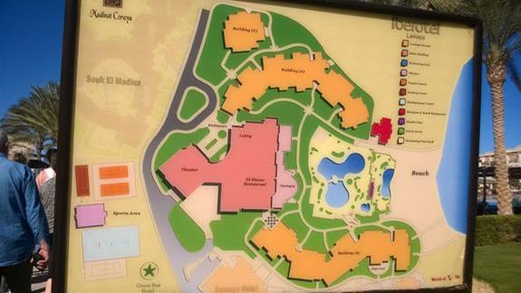 Mapa hotelu Iberotel Lamaya