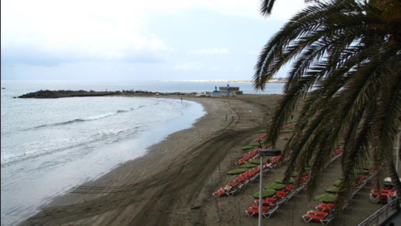 Fragment plaży przy  hotelu Dunas Don Gregory