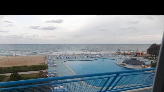 widok z balkonu w budynku A