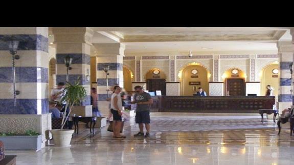 recepcja w hotelu Sentido Sunrise Mamlouk Palace
