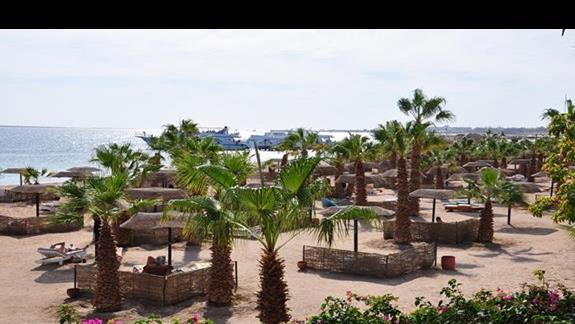 widok z pokoju na morze w hotelu Lotus Bay Resort&Spa