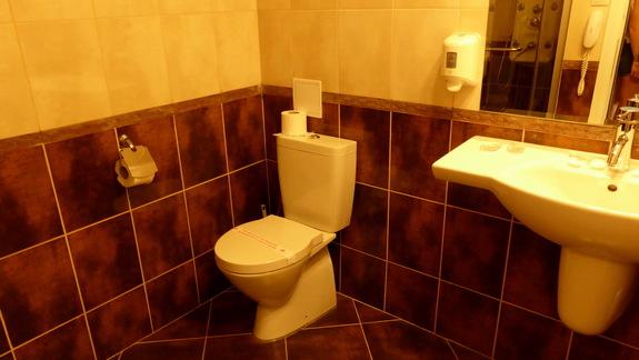 Łazienka w hotelu Kotva